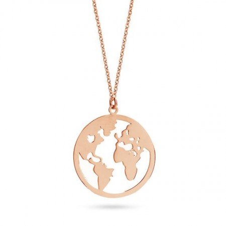 "Κολιέ ""Around The World"" (Stainless Steel)"