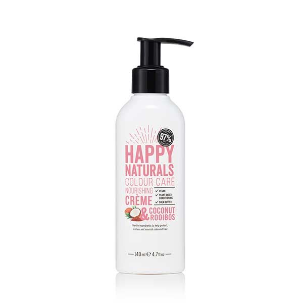 Happy Naturals Colour Care Conditioner Coconut & Rooibos, Conditioner για Βαμμένα Μαλλιά, με έλαιο Καρύδας & εκχύλισμα rooibos , 300ml