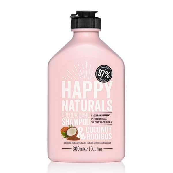 Happy Naturals Colour Care Shampoo Coconut & Rooibos, Σαμπουάν για Βαμμένα Μαλλιά, με έλαιο Καρύδας & εκχύλισμα rooibos , 300ml